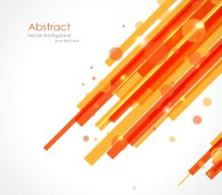 Orange Yellow Lines Background Vector