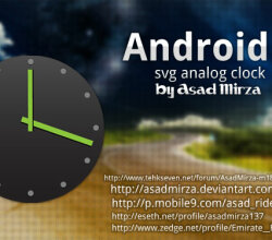 Vector Android Svg Analog Clock