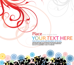 Vector Floral Background with Colorful Circles