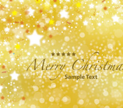 Free Vector Christmas Gold Postcard Vector Design