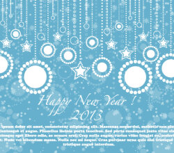 Happy New Year 2013 Blue Card Vector Illustration