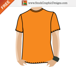 Blank Apparel Free T-shirt Template Vector