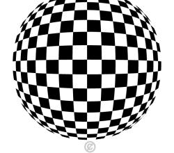 Checkered Spherical Shape Vector