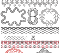 Free Guilloche Patterns Illustrator Brushes