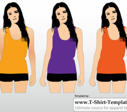 Women Tank Top Template