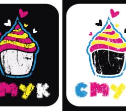 Vector CMYK Cupcake