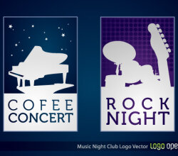 Music Night Club Logo Vector