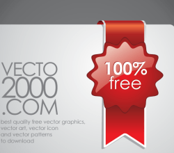 Free Red Discount Tickets Vector
