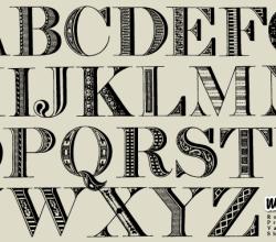 Alphabet Letters Typeface Free Vector