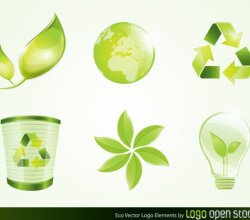 Eco Vector Logo Elements