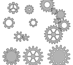 Gear Wheels Vector Art