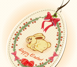 Easter Bunny Price Tag Vector