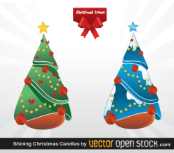 Christmas Trees Vector Graphics