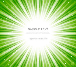 Abstract Green Starburst Background Vector