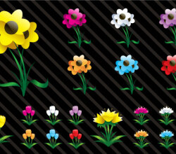 Free Vector Art Flowers