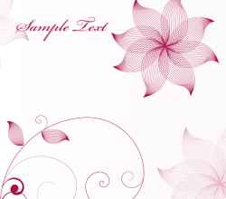 Stylish Flower Vector Background