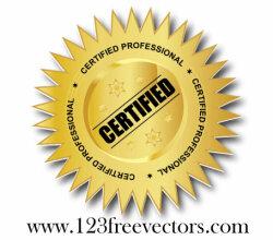 Certified Professional Vector