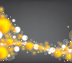 Yellow and White Bubbles Free Vector Background