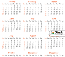 2014 Calendar Template Vector Free