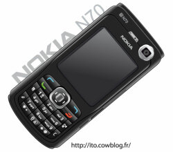 Nokia N Black Cell Phone Vector