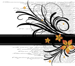 Vector Flower Text Frame Resource