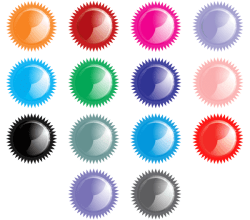 Free Shiny Star Button Icons Vector