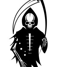 Death Skeleton with Scythe Vector