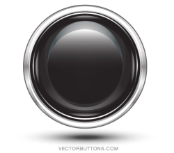 Platinum Black Circle Button Vector