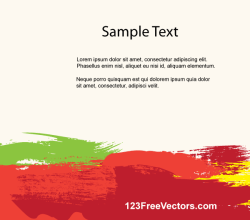 Colorful Brush Strokes Background Template Vector