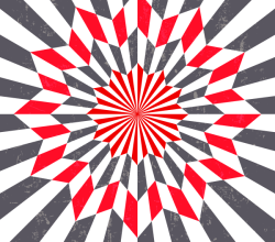 Star Optical Illusion Vintage Vector Art