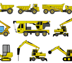 Vector Construction Machines Illustrator Pack 2
