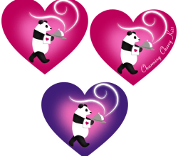 Valentine's Day Labels for Love Heart in Pandas