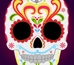 Day of the Dead Sugar Skull Vector Art