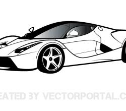 Ferrari Clip Art Vector