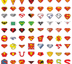 "72 Years of Superman ""S"" Logo Vector Art"