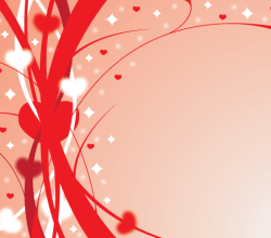 Ribbons of Love Vector Background Design