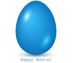 Blue Easter Egg Clip Art
