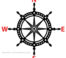 Helm Wheel Vector Image