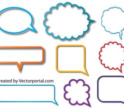 Vector Speech Bubble Free