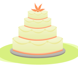 Vector Wedding Cake