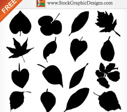 Leaf Silhouettes Free Vector Graphics