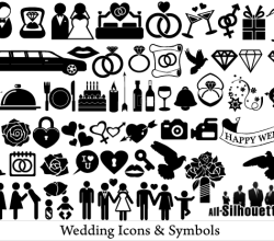Free Wedding Icons and Symbols Vector Art
