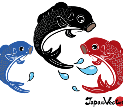 Japanese Koi Fish Vector Graphic