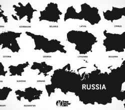 Europe Map Vectors of European and Eurasian Countries