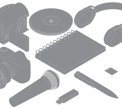 Electronic Objects Free Vector