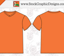 Men's Basic Free T-shirt Templates Vector
