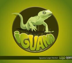 Iguana Logo Vector