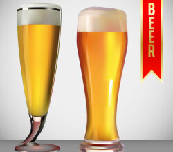 Beer Glass Free Vector Art