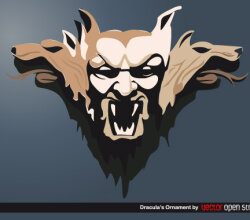 Dracula Ornament Vector