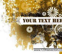 Grunge Text Banner Vector